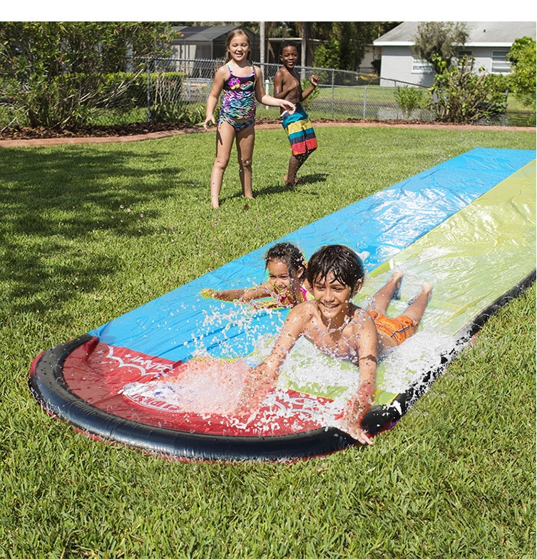 2020 New Inflatable Water Slide 20ft Double Racer Pool ...