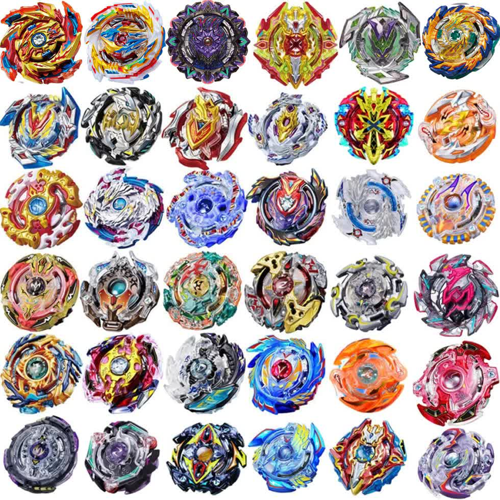 New Funny Joy B-100 Beyblade Burst Starter Bey Blade Blades Metal Fusion Bayblade With Launcher High Performance Battling Top