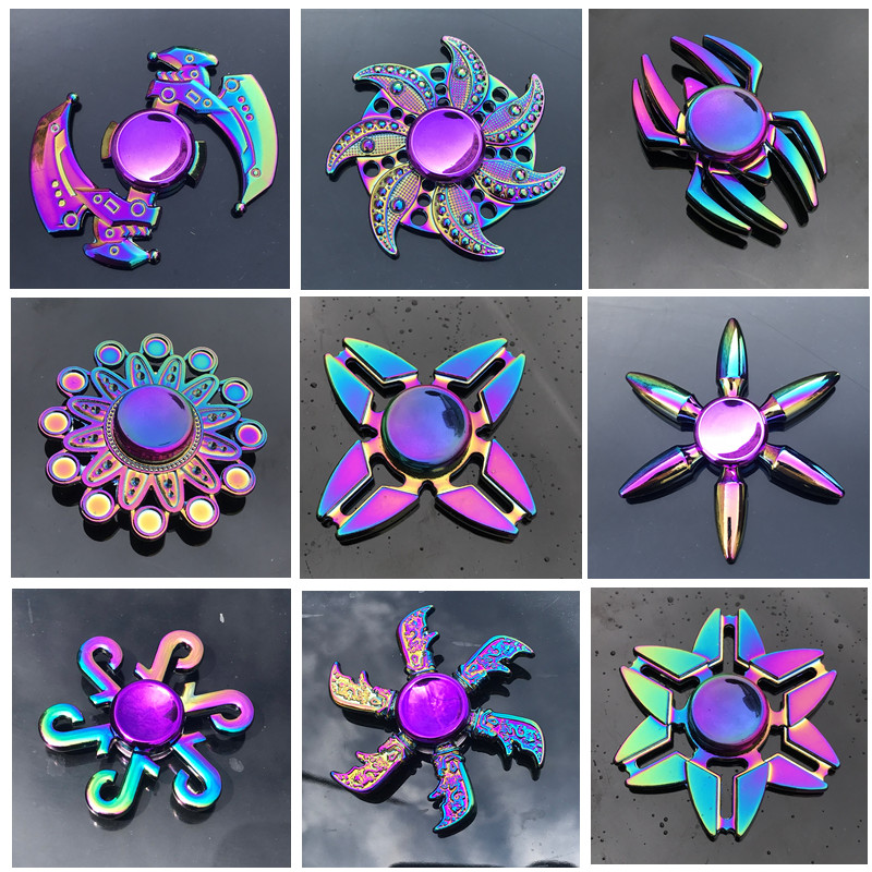 New Zinc Alloy Colorful Fidget Spinner High Quality Anti-Anxiety Hand Spinners Toy for Spinners Focus Relieves Stress