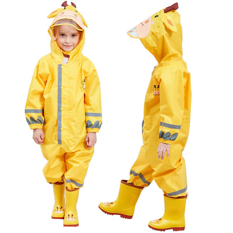 Children Waterproof Rain Pants New 2019 Waterproof Overalls 3-8Yrs Baby Boys Girls Jumpsuit Fashion Children RainCoat DWQ006