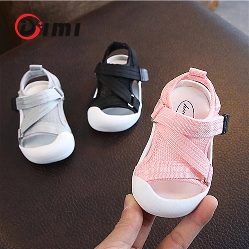 DIMI 2020 Summer Infant Toddler Shoes Baby Girls Boys Toddler Sandals Non-Slip Breathable Soft Kid Anti-collision Shoes