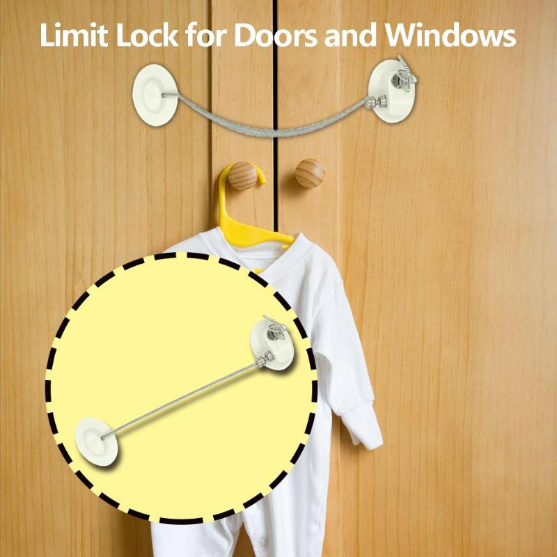 MUMA Child Safety Cable Window Opening Restrictor Lock Cable Window Restrictor Child Safety Lock,Suitable For Windows /& Doors Color : Black