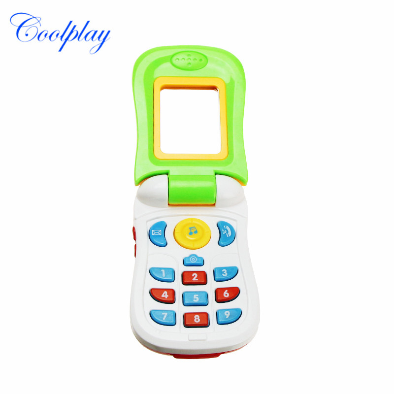 Funny Flip Phone Toy Baby Learning Study Musical Sound Cellphone Educational Learning Toy Mobile Phone Electric Toy Gift for Kid