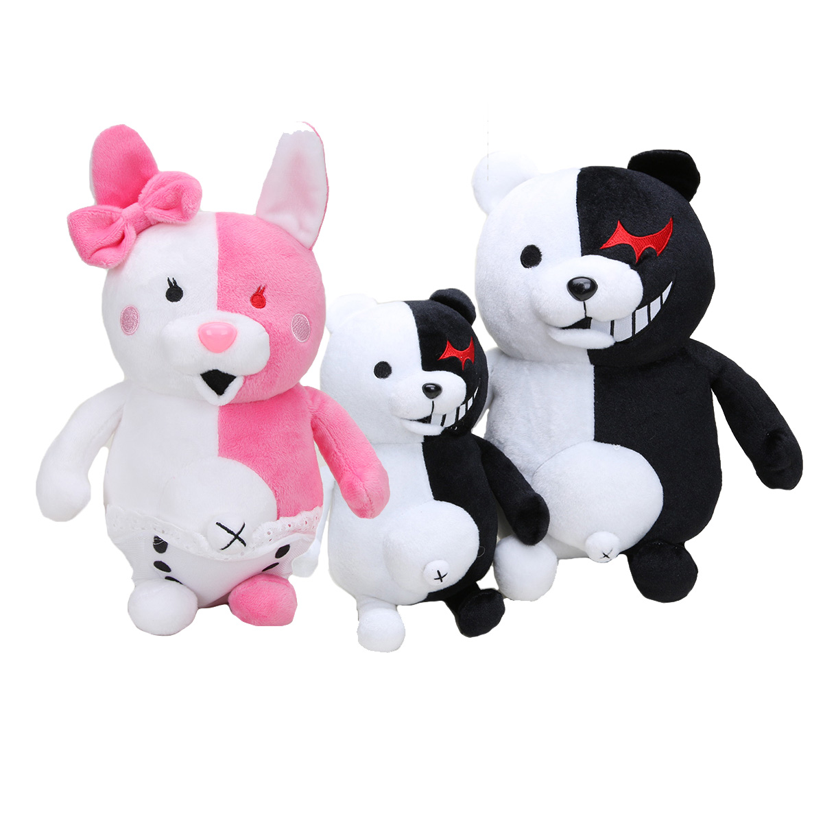 Monomi Rabbit Plush Toys Danganronpa black white Bear Rabbit Dangan Ronpa Monokuma Doll Birthday Toys for Children