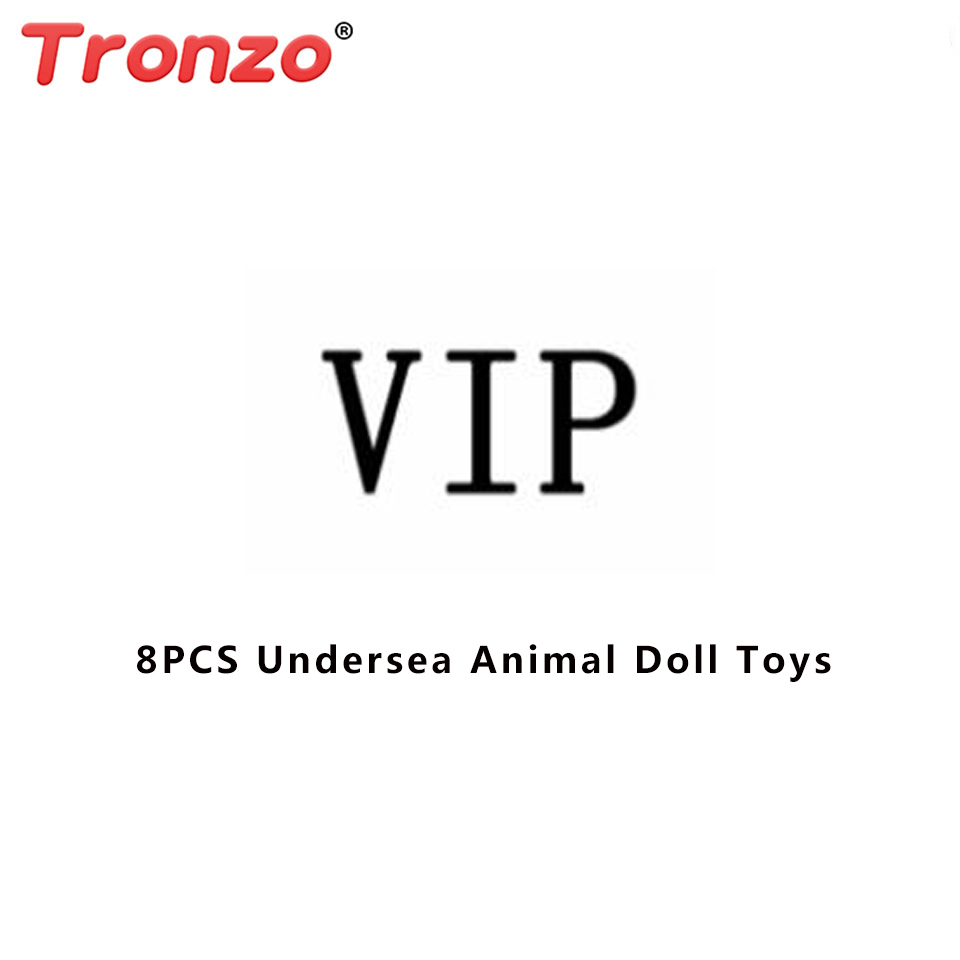 Tronzo 8pcs Cute Undersea Animal Action Figure Dolls For Baby Children