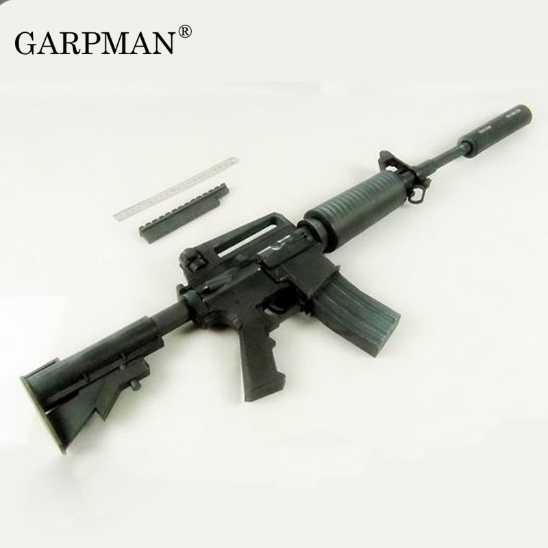 1:1 M4A1 Assault Rifle 3D Paper Model Gun Handmade Cosplay Prop Toy