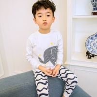Baby Boys Pajamas Suit Girls Sleepwear Sleep Suits Kids T-shirts Pants Children Pyjama 100% Cotton Tops Trousers Homewear Pijama