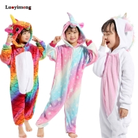 Kids Girls Kigurumi Panda Blanket Overalls Jumpsuit Children Animal Unicorn Pajamas Onesie Cosplay Boys Baby Sleepwear Sleepers