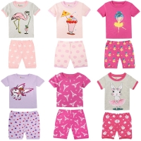 Summer Baby Girls Clothing Children Short Pajamas Sets Kids Cotton Pyjamas Baby Pijamas for 1-8 Years Girls Animal Printing PJS