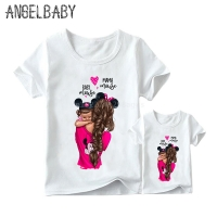 Matching Family Outfits Super Mom and Daughter Print Boys Girls T-shirt Mother's day Present Clothes Kids&Woman Funny Tshirt