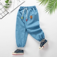 Baby Girl Clothes Cartoon Pattern Printing Clothes Kids Jeans Children Pants Summer Casual Denim Pants Baby Girls Jeans