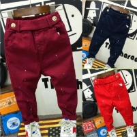 fashion baby clothing 2-7years baby boys soft jeans trousers Kids jeans blue casual pants spring autumn trousers denim