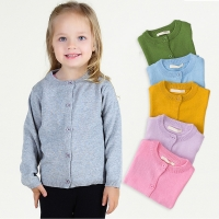 Little Boy Girls Spring Cardigan Children Long Sleeve Knit Wear Girls Knitted School Uniform Clothes for Baby Boys Girls