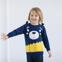 New Arrivals Winter Cute Bear Pattern Tops for Baby Boy Kids Sweater Toddler Coats Tops Children Knitted Outwear Clothes 1-6 Y