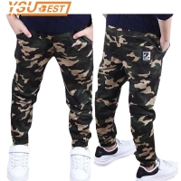 Camouflage Boys Trousers Boys Pants Casual Cotton Print Mid Elastic Waist Harem Kids Pants Boy Children Pants Blue Green Army