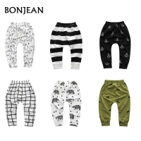 Spring Baby Boys Harem Pants Trousers For Girls Hot Geometric Pattern Print Pants Newborn Toddler Fashionable Variety Of Pants