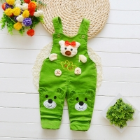 BibiCola  Baby pants Boys Girls Jeans Overalls  Toddler Kids Cartoon bear Denim Rompers  Bebe Jumpsuit Clothes for baby