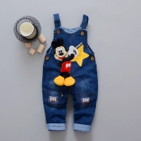 Baby Clothes Kids Boys Girls Cartoon Short Rompers Summer Jeans Infant Toddlers Denim Shorts Jumpsuit Overalls For Children