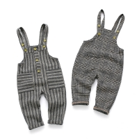Children's plaid overalls pants for boys girls baby girl boy big pp pants spring new toddler jumpsuit 12M-4T