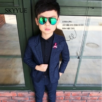 Fashion Kids Blazer Baby Boys Suit Jackets 2019 Spring Cotton Coat Pants 2 Piece Boy Suits Formal  For Wedding Chlidren Clothing