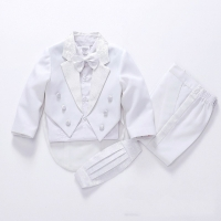 spring autumn Boys suits for weddings Kids Prom Suits Black/White Suits for Boys Tuxedo Children Clothing Set Boy Costume