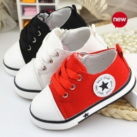 New 2019 Baby Casual Shoes 3 Colors Classic Baby Canvas Shoes Fashion Brand Baby Boys sneakers lace-up kids shoes for baby girls