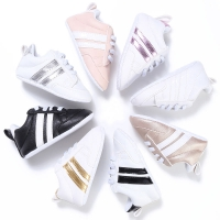 2018 Fashion Casual Active Newborn Infant Baby Girls Boys Striped Cross-tied Lace Up Breathable Shoes 7 Style 0-18M