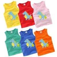 2019 Summer Boys T-Shirt Cartoon Kids Underwear Sleeveless Cotton Girls Undershirts Baby Camisole Shirts for Children Clothing