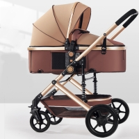 Golden Baby Stroller  2 in 1 Baby Stroller Lightweight High Landscape Pram  Baby Pushchair Free Shipping