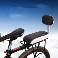 Bicycle Back Seat Cycling Bike Bicycle MTB PU Leather Soft Cushion Rear Rack Seat Children Seat with Back Rest bisiklet