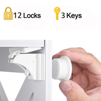 Magnetic Child Lock 4-12 locks+1-3key Baby Safety Baby Protections Cabinet Door Lock Kids Drawer Locker Security Invisible Locks