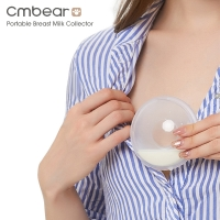 Reusable Cmbear portable Breast Feeding Collector Postpartum pregnant women Prevent leakage milk PP material Manual breast pump