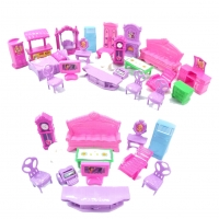 Furniture Miniature Rooms For Doll 22PCS/set 3D Dolls House Set Baby KidsPretend Play Toys Christmas Gift Plastic