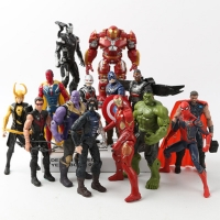 Marvel Avengers 3 infinity war Movie Anime Black Panther SpiderMan Captain America Ironman hulk thor Action Figure Toys