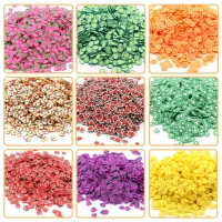 200Pcs Slime Addition Soft Fruit Slices for Charms Beads DIY Nail Mobile Beauty Powder in Slime Supplies Sprinkles