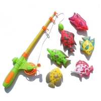 7Pcs Magnetic Fishing Toys For Children 6 Kinds Of Fish + 1 Fishing Rod Set Growing Puzzle Fishing Game Parent-Child Toy
