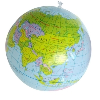 40CM Inflatable World Globe Teach Education Geography Toy PVC Map Balloon Beach Ball Kids Toys Blow Up Inflatable Globe Toy