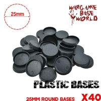 Plastic Round bases for Gaming Miniatures and other wargames 40PCS 25mm