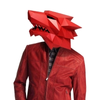 3D Paper Mask Fashion Werewolf Animal Costume Cosplay DIY Paper Craft Model Mask Christmas Halloween Prom Party Gift