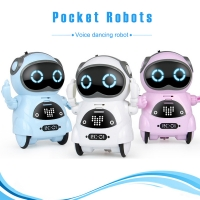 Pocket Robot Mini Robot Toys Gift Talking Interactive Dialogue Voice Recognition Record Singing Dancing Smart Robot AN88