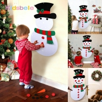 DIY Felt Christmas Snowman or Tree Kids Toys For Children Own Xmas Decoration Tree New Year Favorite Gift Kindergarten Craft