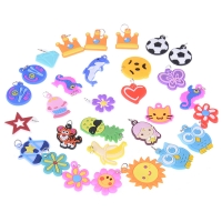 30pcs DIY Colorful Loom Rubber Band Bracelet Jewelry Making Beads Toy  Colorful Animal Flower Beads Pendants  Random Style
