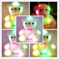 23CM 12Seconds Sound Recording Colorful Luminous Glowing Teddy Bear Plush Toy Stuffed Teddy Bear Lovely Special Gifts For Kids