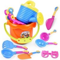 Summer Fun Random 9Pcs Toddler Kids Children Outdoor Sea Sand Beach Bucket Shovel Rake Water Toys Set Classic Baby Water Toy