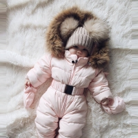 Winter clothes Infant Baby snowsuit Boy Girl Romper Jacket Hooded Jumpsuit Warm Thick Coat Outfit 2020 vetement New fille hiver
