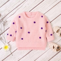 Baby Sweaters For Girls Fashion Dots Knitted Pullovers Jumpers Autumn Casual Newborn Boys Knitwear Tops Long Sleeve Kids Clothes
