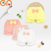 100%Cotton Baby Underwear Underpants.Kids,Girl,Infant fashion stripe Bow Panties.For Children High-quality shorts gifts CN