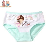 4PC/lot Girls  Cotton Triangle briefs  Pricness Cartoon Underwear Kids Triangle Underwear for 1 to 3 years