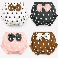 Kids Can wear outside Cotton Underwear Panties Girl Baby Infant Cute Big Bow Dots shorts For Children fashion Underpants gift CN