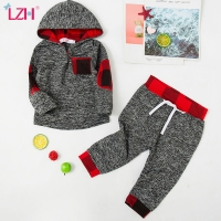 LZH Newborn Clothes Autumn Spring Baby Boys Clothes Hoodies+Pant 2pcs Outfit Suit Christmas Costume Infant Clothing For Baby Set